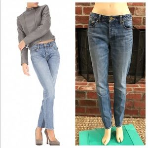 Tory Burch Straight Leg Button Fly Mom Jeans